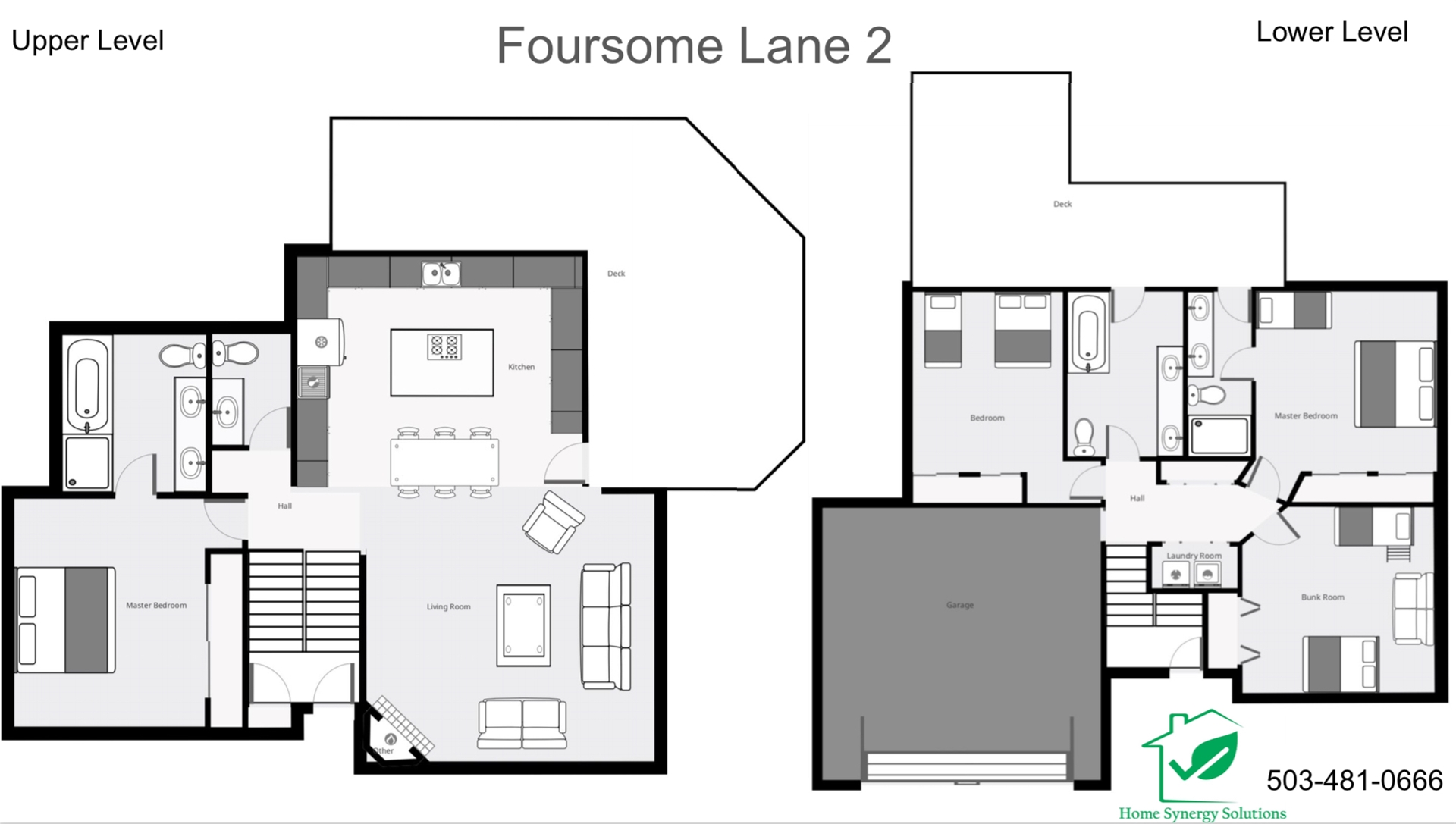 Floor Plan for Sunriver, OR | Foursome 2