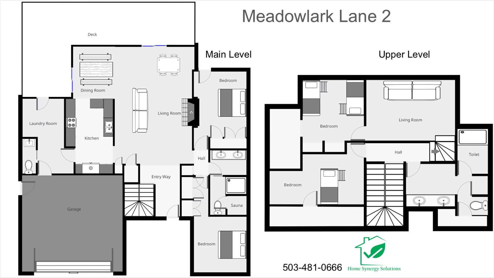 Floor Plan for Sunriver, OR       Meadow Lark 2