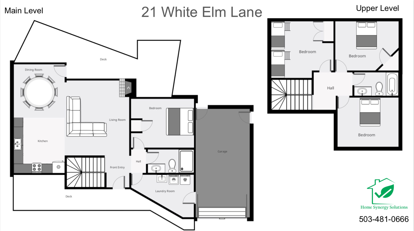 Floor Plan for Sunriver, OR  White Elm 21