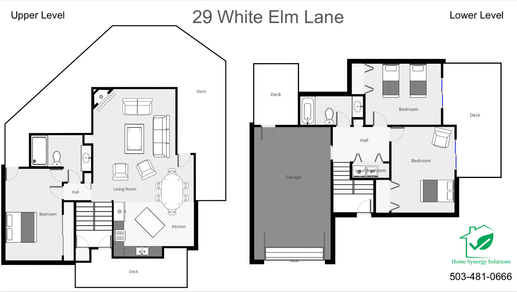 Floor Plan for Sunriver, OR           White Elm 29